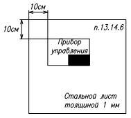 Установка приемно-контрольных приборов нормы 1
