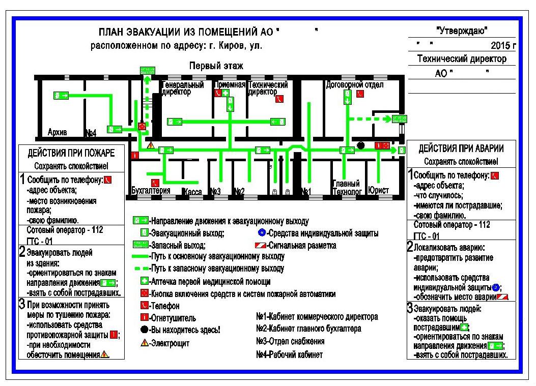 схема помещений оборудованных сигнализацией